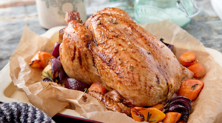 Cinnamon honey glazed roast chicken recipe