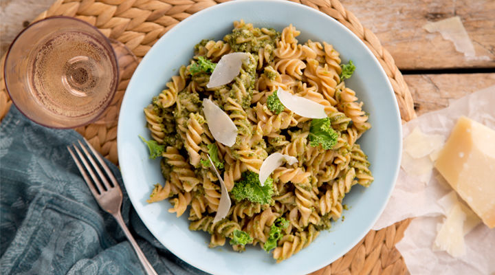 Fusilli kale walnut pesto recipe