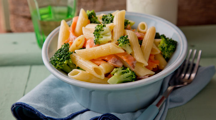 Pasta smoked salmon broccoli recipe