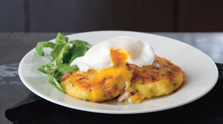Potato cakes poached eggs recipe