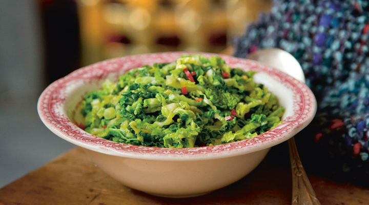 Shredded brussels sprouts cabbage ginger chilli recipe