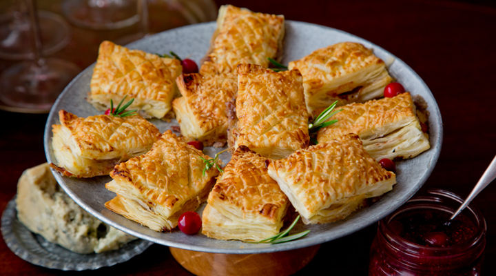 Stilton cranberry puffs recipe