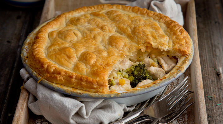 Chicken sweetcorn broccoli  pie recipe