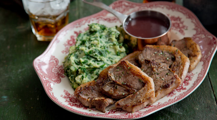 Lamb chops spinach mash recipe