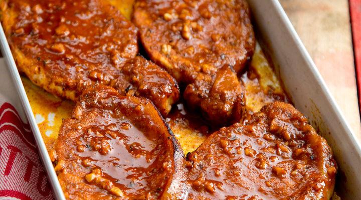 Peri Peri Pork Chops With Sweet Potato Wedges
