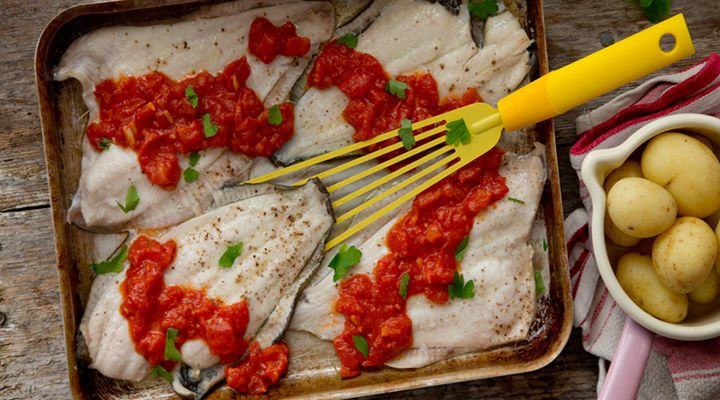 Plaice tomato garlic parsley recipe