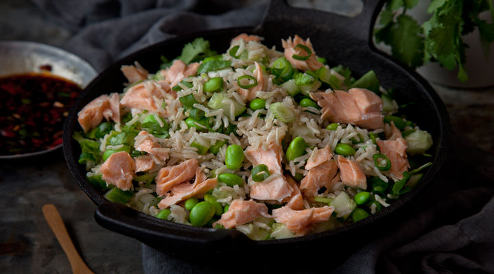 Salmon brown rice recipe