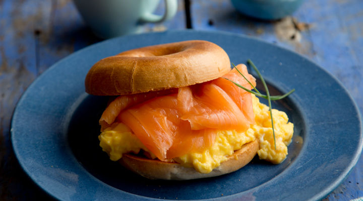 Smoked salmon scrambled eggs recipe