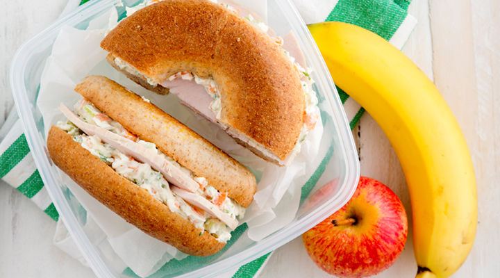 Turkey veggie cream cheese bagel recipe