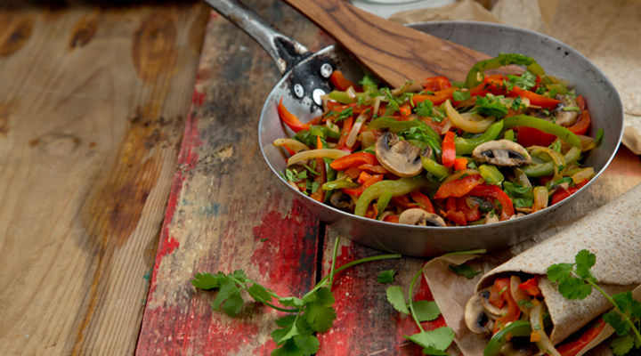 Vegetable fajitas recipe