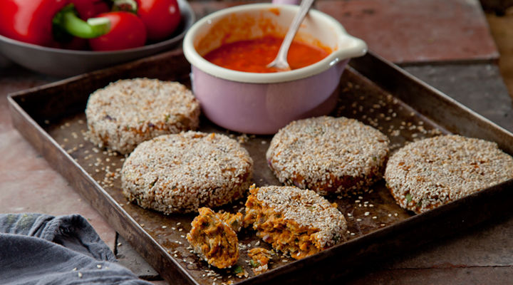 Sweet potato falafel cakes recipe