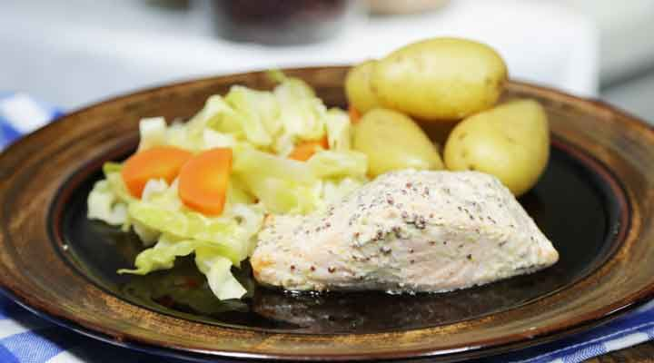 Mustard baked salmon recipe