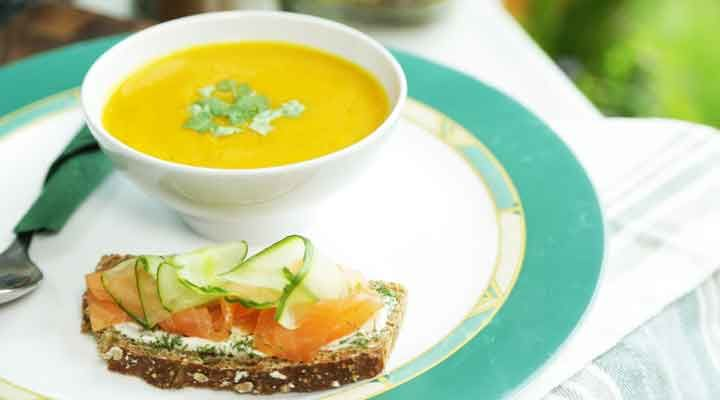 Salmon sanwich soup recipe