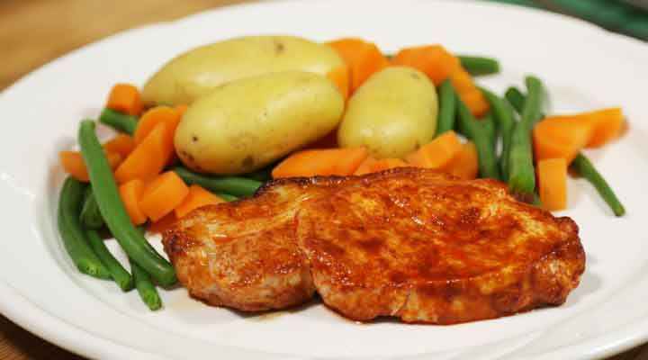 Smokey pork chops recipe