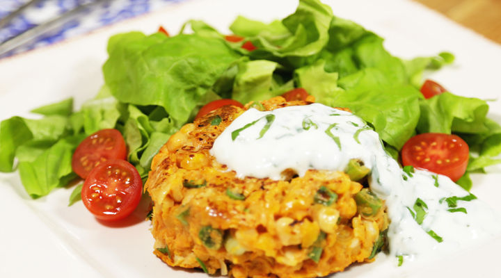 Curried Chickpea and Sweet Potato Burger recipe