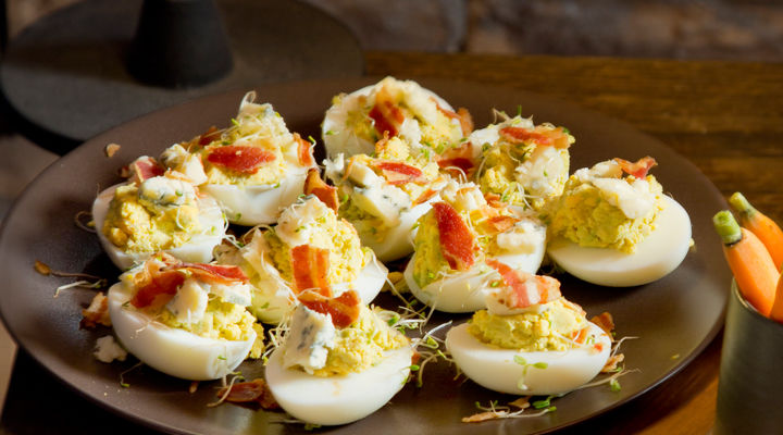 Devilled Avocado Eggs