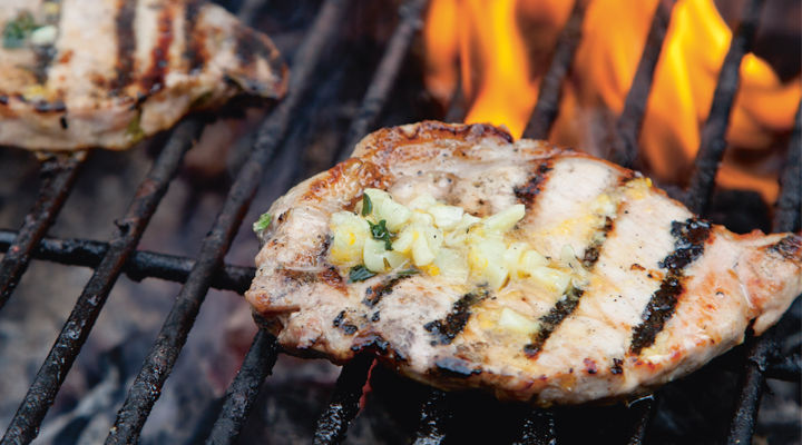 Kevin chargrilled pork chops