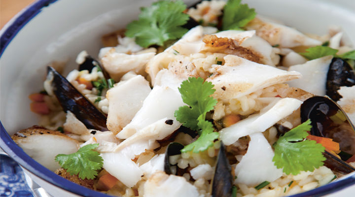 Kevin risotto cod mussels