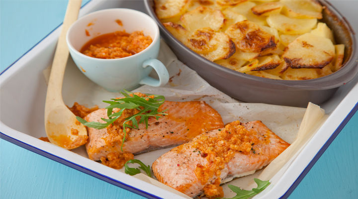 Martin fish baked salmon garlic potatoes