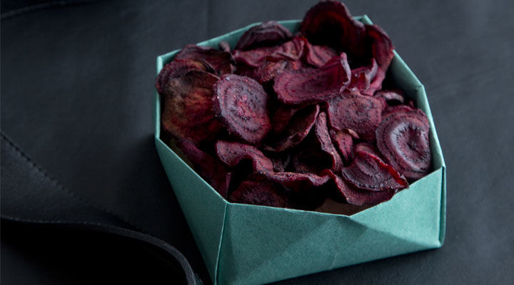Beetroot and Coriander Crisps