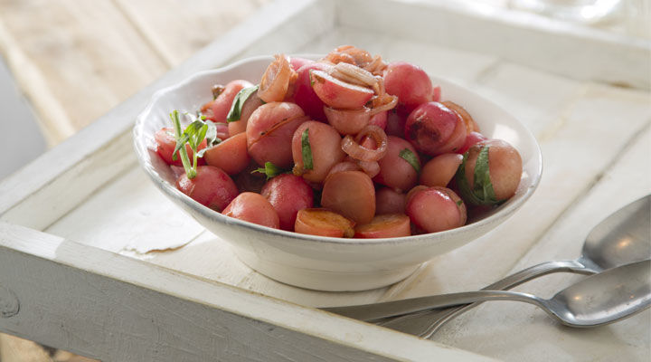 Honey-Glazed Braised Radishes
