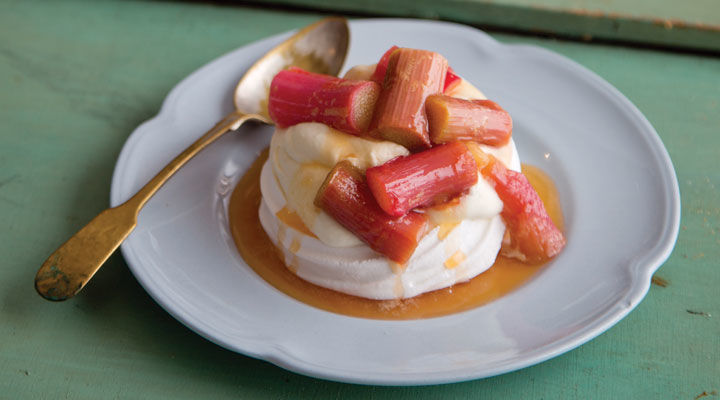 Tipperary Kitchen Meringues with Rhubarb and Orange