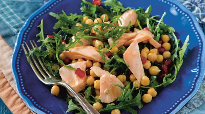 Poached Salmon with Rocket