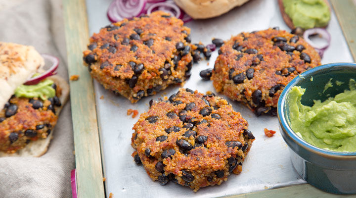 Quinoa, Black Bean And Chorizo Burger