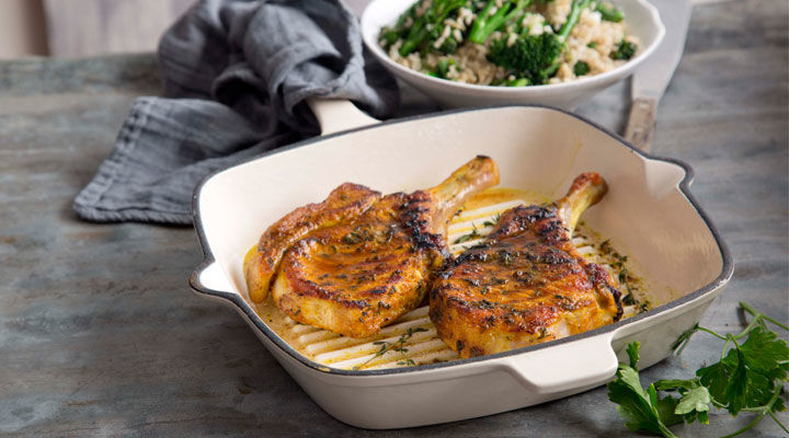 Turmeric pork chops