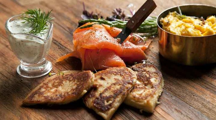 Salmon blini recipe
