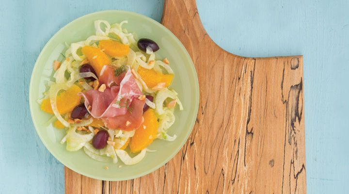Fennel orange and prosciutto salad