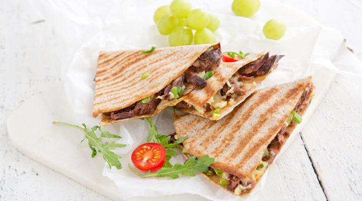 Roast beef cheese quesadilla recipe