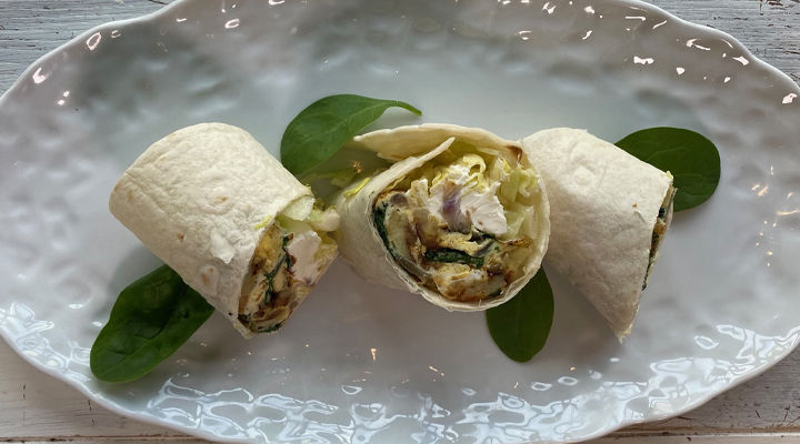 Frittata wrap recipe