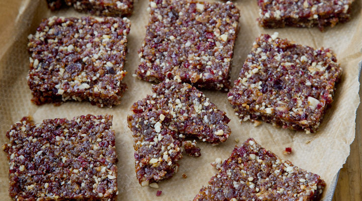 Spiced fruit and nut bars recipe