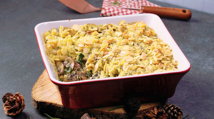 Creamy Mushroom And Spinach Pasta Bake Supervalu