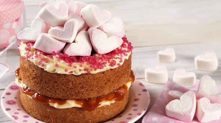 Marshmallow Valentines Cake Recipe