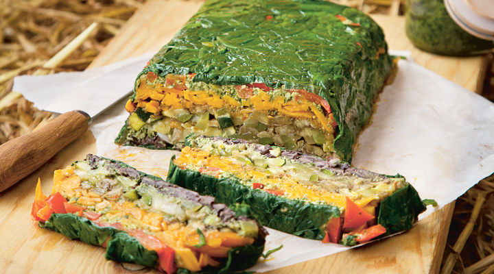 Happy pear rainbow vegetable terrine
