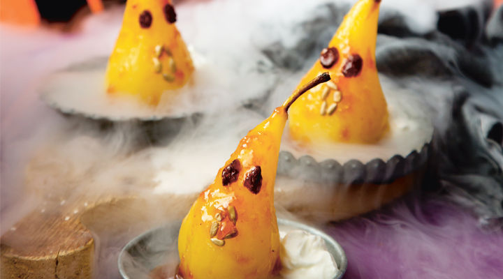 Sharon poached pear