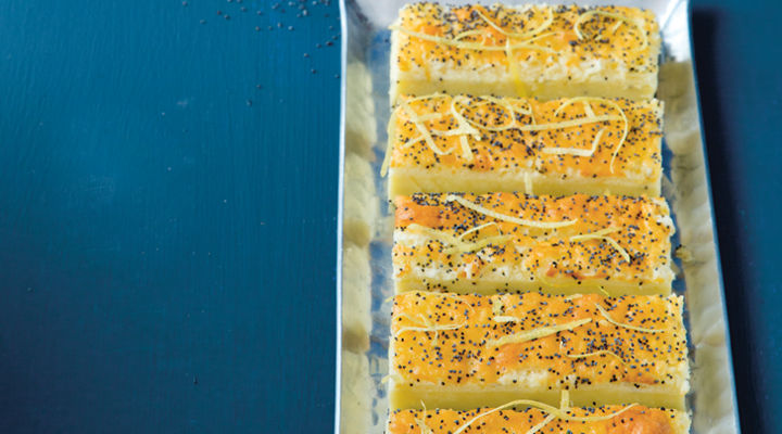 Spiced bakes poppy seed lemon tray bake