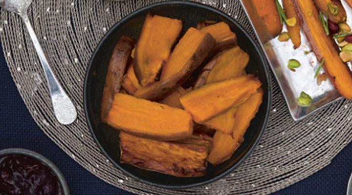 Sweet potato wedges spicy dip