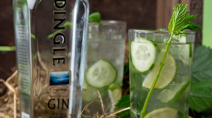 Dingle gin mojito cocktail