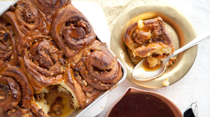 Apple and Orange Buns to share with a Butterscotch and Whiskey Glaze