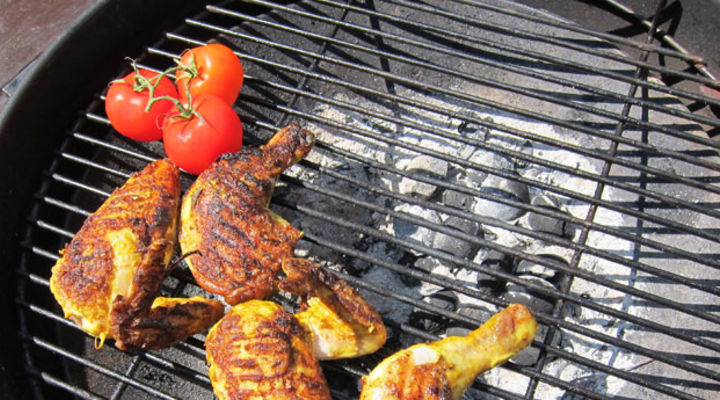 Barbecued Tandoori Chicken Pieces
