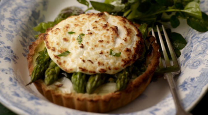 Asparagus & Goats Cheese Tartlet