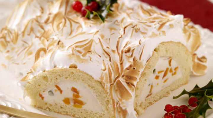 Baked Alaska Christmas Log