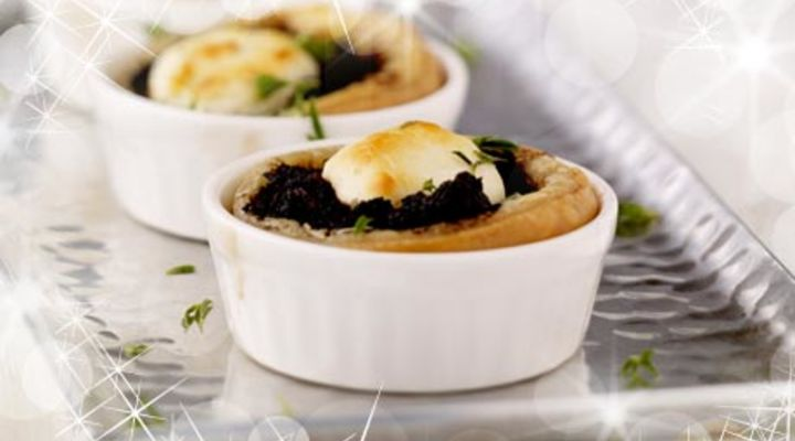 Black Olive & Goats Cheese Tartlets