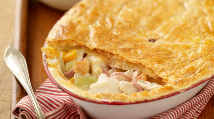 Chicken & Ham Puff Pie
