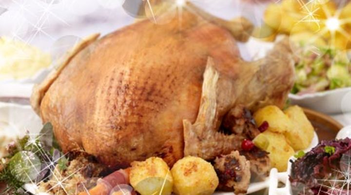 Christmas Turkey with Almond and Sage Stuffing