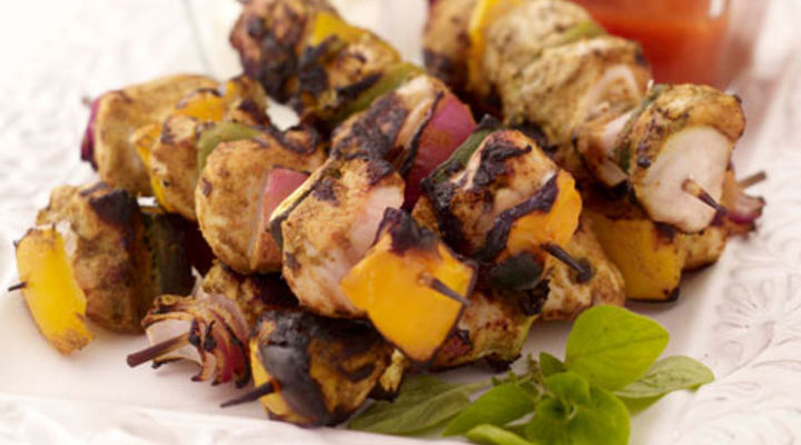 Curried Chicken Skewers