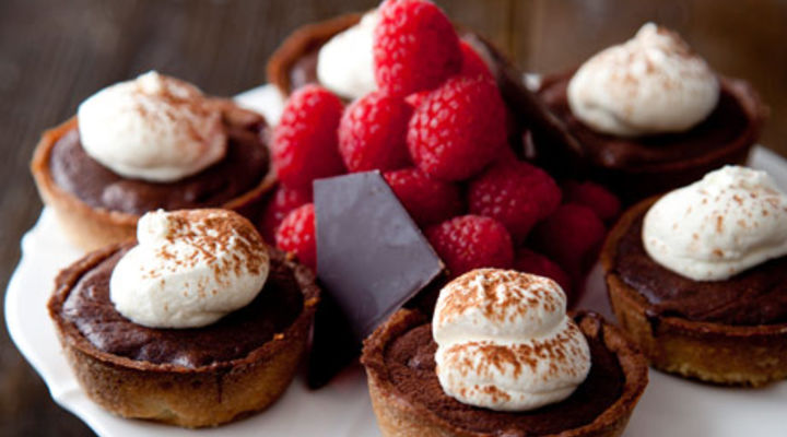 Dark Chocolate & Raspberry Tartlets